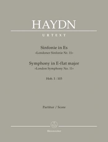 Symphony No.103 in E-flat (Drum Roll) (Hob.I:103) (London No.11) (Urtext).: Large Score Paperback: (