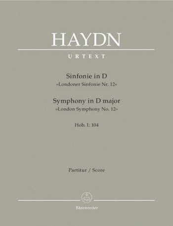 Symphony No.104 in D (London) (Hob.I:104) (London No.12) (Urtext). : Large Score Paperback: (Barenre