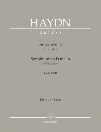 Symphony No.101 in D (Clock) (Hob.I:101) (London No.8) (Urtext).: Large Score Paperback: (Barenreite