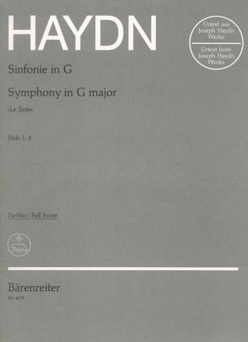 Symphony No.  8 in G (Le Soir) (Hob.1:8) (Urtext). : Large Score Paperback: (Barenreiter)