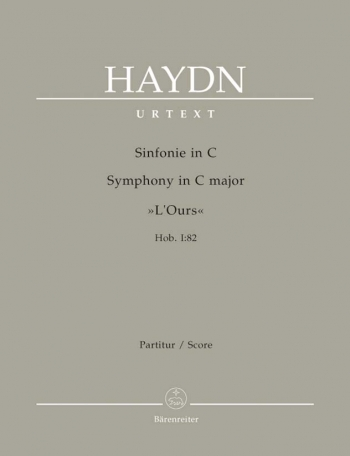Symphony No. 82 in C (The Bear) (Hob.I:82) (Urtext). : Large Score Paperback: (Barenreiter)