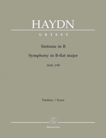 Symphony No. 98 in B-flat (Hob.I:98) (Urtext). : Large Score Paperback: (Barenreiter)