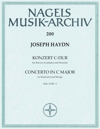 Concerto for Keyboard in C (Hob.XVIII: 5) (harpsichord/piano). : Score & parts: (Barenreiter)