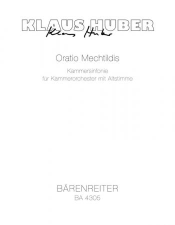 Oratio Mechtildis (1956/57). : Study score: (Barenreiter)