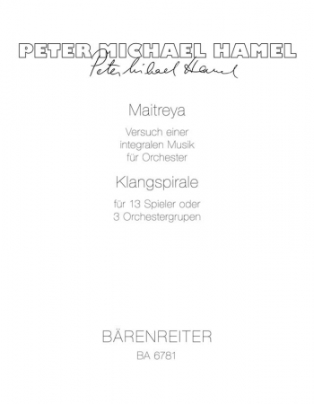 Maitreya (1974). : Study score: (Barenreiter)