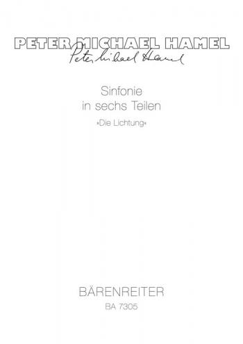 Symphony. Die Lichtung (1985/87). : Study score: (Barenreiter)