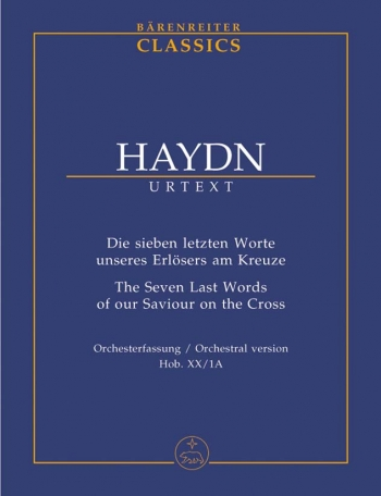 Seven Last Words of Our Saviour on the Cross (Hob.XX:1) Study Score (Barenreiter)