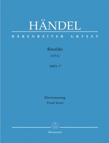 Rinaldo (1711) (HWV 7a) (It) (Urtext). : Vocal Score: (Barenreiter)