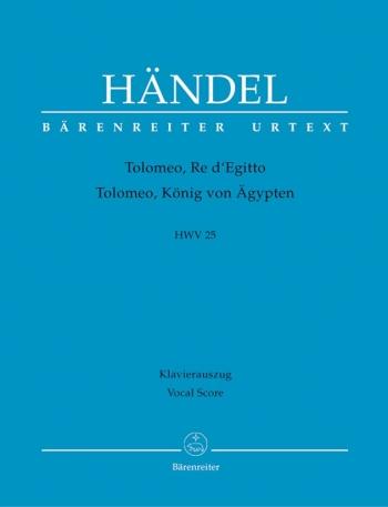 Tolomeo, Re di Egitto (HWV 25) (It) (Urtext). : Vocal Score: (Barenreiter)