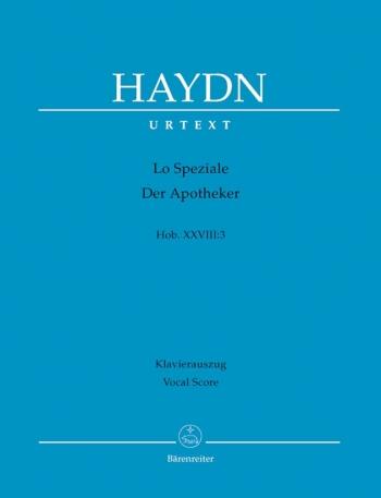 Lo Speziale (Der Apotheker) Dramma giocoso (Hob.XXVIII:3) (Urtext). : Vocal Score: (Barenreiter)