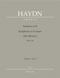 Symphony No. 96 in D (The Miracle) (Hob I:96) (Urtext). : Wind set: (Barenreiter)