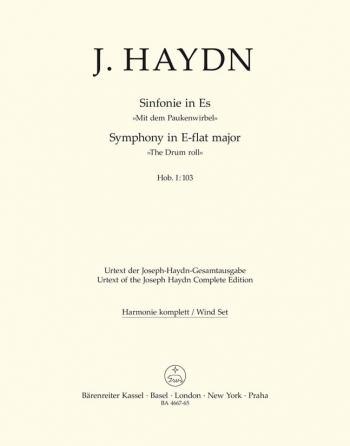 Symphony No.103 in E-flat (Drum Roll) (Hob.I:103) (London No.11) (Urtext).: Wind set: (Barenreiter)