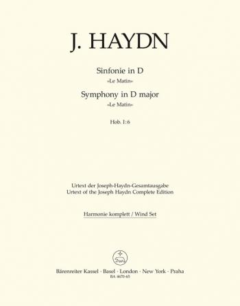 Symphony No.  6 in D (Le Matin) (Hob.I:6) (Urtext). : Wind set: (Barenreiter)