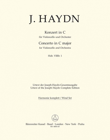 Cello Concerto C (Hob.VIIb:1) (Urtext): Wind Set: (Barenreiter)