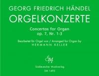 Concerto for Organ, Op.7 Bk.1: Nos 1 - 3 (arranged for solo organ). : Organ: (Barenreiter)