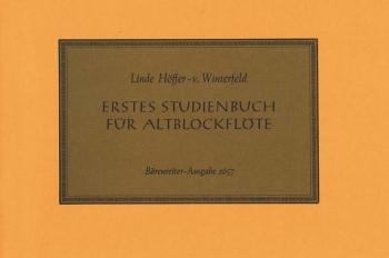 First Book of Studies (G). : Treble Recorder: (Barenreiter)