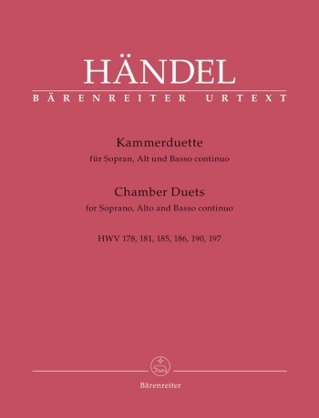 Chamber Duets for Soprano, Alto and Basso continuo (Urtext). : Voice: (Barenreiter)