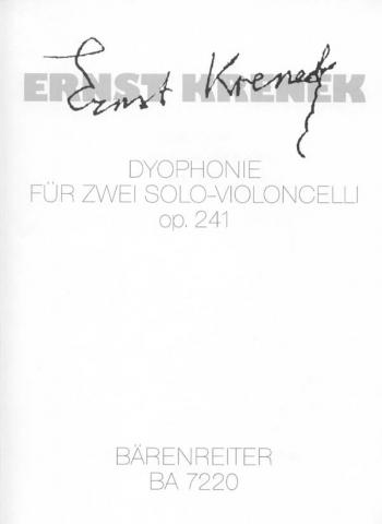 Dyophonie, Op.241 (1988). : Cello: (Barenreiter)