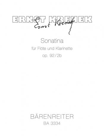 Sonatina, Op.92/ 2b. : Mixed Ensemble: (Barenreiter)