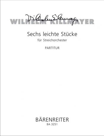 Easy Pieces for String Orchestra (6). : Large Score Paperback: (Barenreiter)