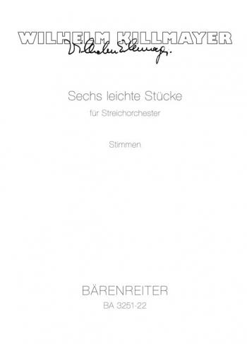 Easy Pieces for String Orchestra (6). : Strings (set): (Barenreiter)