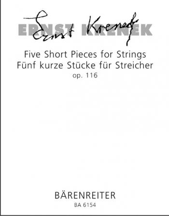 Short Pieces, (5,) Op.116 (1948). : Study score: (Barenreiter)