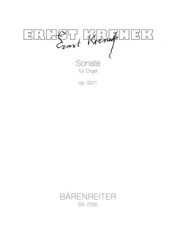 Sonata, Op.92/ 1. : Organ: (Barenreiter)