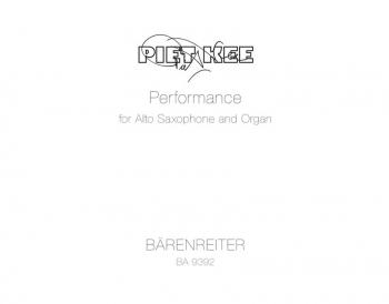 Performance (2009). : Organ: (Barenreiter)