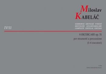 Ricercari (8), Op.51. : Percussion: (Barenreiter)