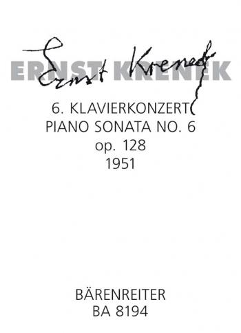Piano Sonata No.6, Op.128 (1951). : Piano: (Barenreiter)