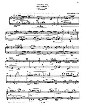 Klavierstuecke (Piano Pieces) 1-6 (2001-2004). : Piano: (Barenreiter)