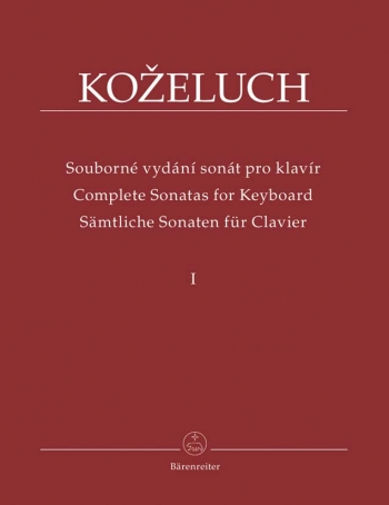 Complete Sonatas for Keyboard Solo Vol. 1 (Urtext). Sonatas 1-12 from 1780 - 1784.: Piano: (Barenrei