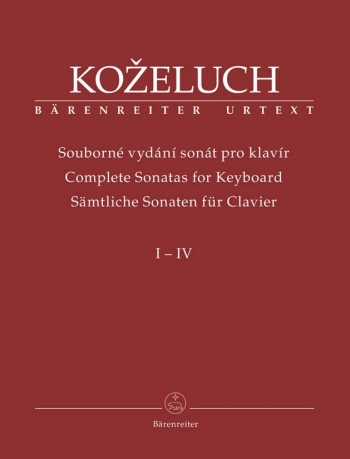 Complete Sonatas for Keyboard Solo in 4 volumes (special price) (Urtext). (Includes individual volum