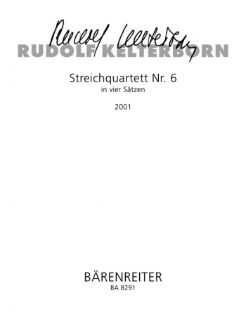 String Quartet No.6 (2001). : String Quartet: (Barenreiter)