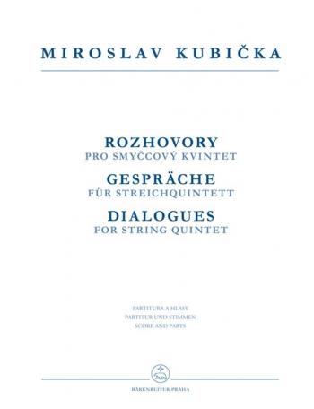 Dialogues (1982/1984). : String Quintets: (Barenreiter)