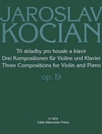Three Compositions for Violin and Piano, Op.19 (Melody, Spring Song, Lullaby).: Violin & Piano: (Bar