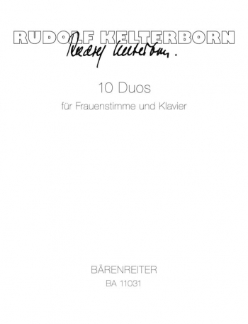 Duos for Female Voice and Piano (10) (G). : Voice: (Barenreiter)