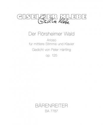 Floersheimer Wald, Der, Op.125 (1997) (G).  : Voice: (Barenreiter)