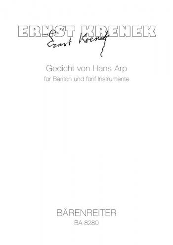 Gedicht von Hans Arp (1926) (G). : Voice: (Barenreiter)