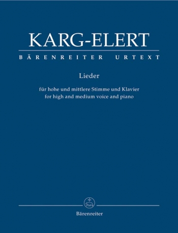 Songs for High and Medium Voice and Piano (G) (Urtext). : Voice: (Barenreiter)