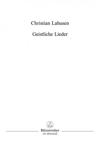 Sacred Songs (G). : Choral: (Barenreiter)