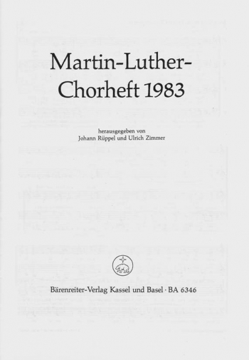 Chorale Book 1983 (G). : Choral: (Barenreiter)
