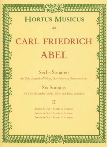 Sonatas (6), Vol. 2: Nos. 1 (C maj), 2 (A maj), 5 (A maj). : Viola da gamba: (Barenreiter)