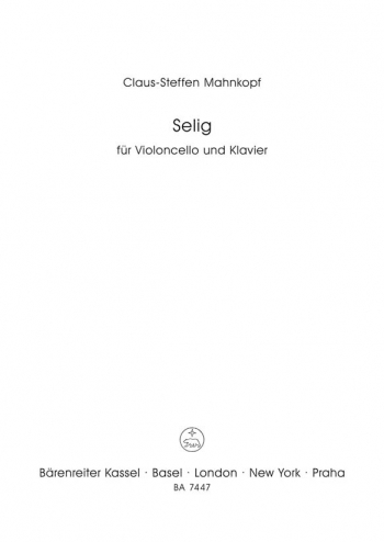 Selig (1995). : Cello: (Barenreiter)