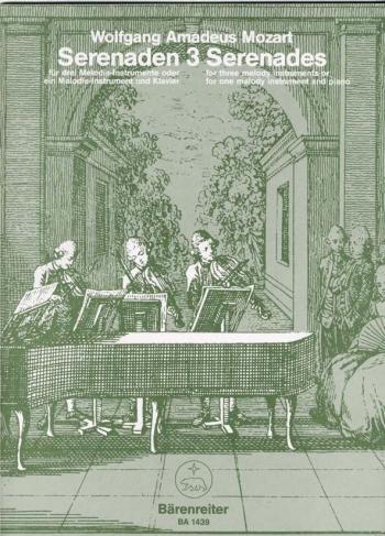Serenade No. 3 in C (orig B-flat) (K.439b). : Mixed Ensemble: (Barenreiter)