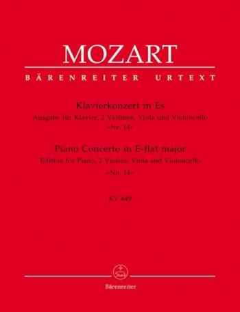 Concerto for Piano No.14 in E-flat (K.449) (Urtext). : Mixed Ensemble: (Barenreiter)