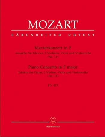 Concerto for Piano No.11 in F  (K.413) (Urtext). : Mixed Ensemble: (Barenreiter)