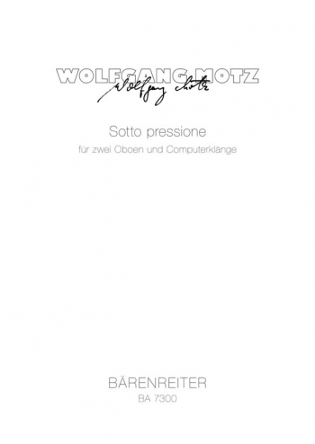 Soto pressione (1982). : Mixed Ensemble: (Barenreiter)