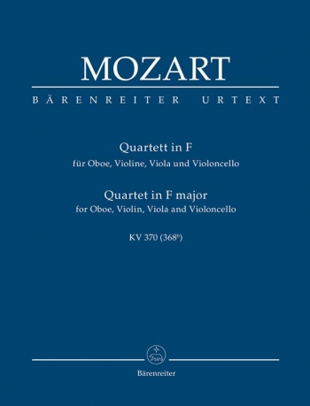 Oboe Quartet in F (K.370) (Urtext). Study score (Barenreiter)