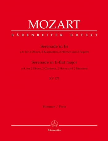 Serenade No.11 in E-flat (octet version) (K.375) (Urtext). : Wind Ensemble: (Barenreiter)